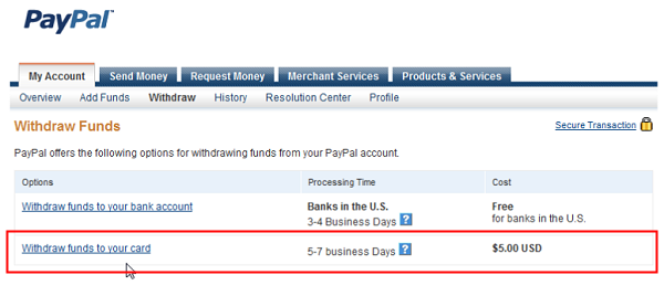 paypal withdrawal limit